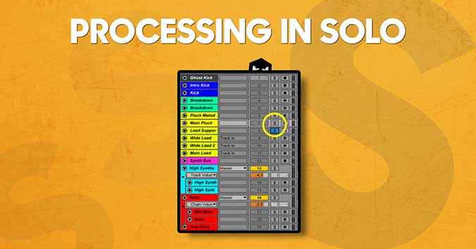 Audiotent music production tips processing in solo