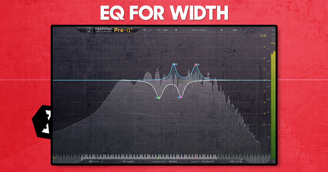 Using mid side eq for width in your mix