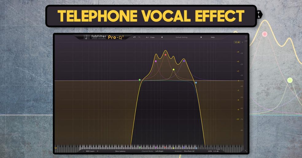 Telephone vocal effect