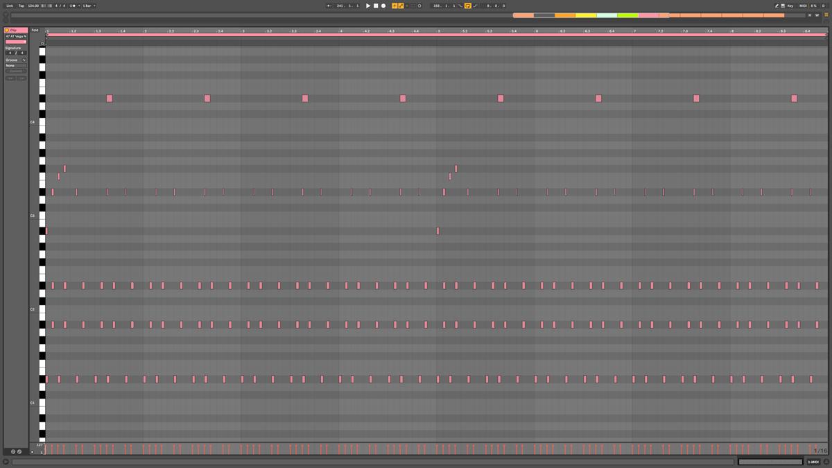 47 AT Vega Note MIDI - Freefall d#m